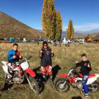 Kirsten Powell, of Danseys Pass, with sons Jack (left) and Billy, on the third annual Wanaka...