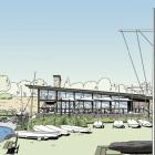 Architectural drawings of the proposed redevelopment of the Wanaka Yacht Club,designed by...
