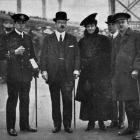 Sir Joseph and Lady Ward and three of their sons in London: Sub-Lieutenant Vincent Ward, R.N.R.,...