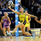 Whitney Souness chases down the ball for the Central Pulse against the Northern Stars. Photo:...