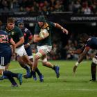 South Africa's Warren Whitely on the charge against France. Photo Reuters