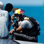 Jimmy Spithill, helmsman of Oracle Team USA after losing to Team New Zealand in the America's Cup...