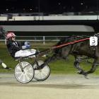 Driver Sam Payne has the David Pearce-trained All Nuts N Bolts in full flight before going on to...