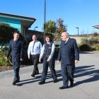 Corrections southern regional commissioner Ben Clark (left), Clutha Mayor Bryan Cadogan, acting...
