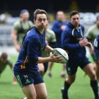 Highlanders co-captain and fullback Ben Smith at training at Forsyth Barr Stadium yesterday....