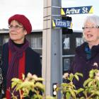 Co-founders of the City Rise Up community group Meg Davidson  (left) and Liz Angelo at the Arthur...