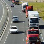 Falling road freight volume is not a good sign for the economy at large. Photo by Gerard O'Brien.