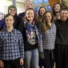 Front row, left to right: Sam Farr, Education. Shaun Swain, Actor. Ariana Robertson, Lighting....