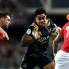 Malakai Fekitoa runs the ball up for the Highlanders against the Lions. Photo: Getty Images