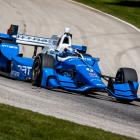 Scott Dixon during practice for the race in Elkhart Lake, Wisconsin. Photo Getty Images