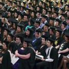 University graduates at the Dunedin Town Hall.  Photos by Peter McIntosh.