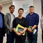 Philip Temple, Adam Dudding, Chris Price, David Eggleton and Peter Simpson at the Dunedin Writers...