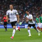 Leon Goretzka scores one of his goals against Mexico. Photo: Getty Images