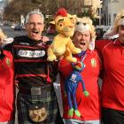 British and Irish Lions supporters (from left) Wes Wheeler, Peter Taylor, Nick Wheeler and Geoff...