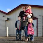 Mosgiel-Taieri Community Board chairwoman Sarah Nitis with her children (from left) Lennox (4),...
