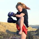 Roxburgh's Mykayla Robert is heading to kick boxing championships in Thailand. Photo: Stephen...