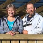 Melanie and Tony Bonney, formerly of Perth, on the deck of their renovated Kaitangata home. Photos: Samuel White