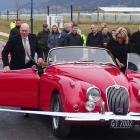 Queenstown Lakes Mayor Jim Boult and his wife Karen took a ride in their 1960 Jaguar to...