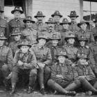 The Otago and Southland troop of the 30th Reinforcements at Featherston Camp. Back row (from left...