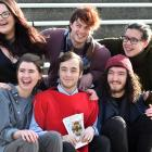 University of Otago theatre studies students (from left, bottom row) Kate Johnstone (21), Shaun...