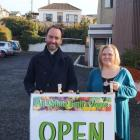 Kaikorai Community Hub coordinator Tracy Summerfield (right) is pleased to be hosting the eighth depot for the All Saints' Fruit and Veges scheme, which was started by All Saints minister Michael Wallace (left) two years ago. PHOTO: GRETA YEOMAN