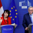 Swiss President Doris Leuthard and European Commission President Jean-Claude Juncker. Photo: Reuters