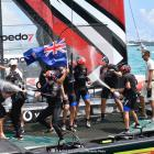 Team New Zealand celebrates its win over Oracle at the America's Cup. Photo: Getty Images