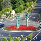 The Titirangi Roundabout has been named the international roundabout of the year. Photo: NZ Herald/ Titirangi Roundabout Facebook