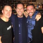 Sasha Mielczarek, centre, and Kris Smith, right, enjoy a night out with a friend in Queenstown....