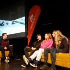 Some of the NZ snow sports athletes who celebrated their successes in northern hemisphere competitions at an event in Wanaka last night were (from left) film-maker and event organiser Fraser McDougall (26), freeskier Byron Wells (25), world tour cup winne