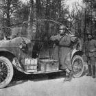 A useful German car fitted with barbed wire cutters, captured on the Oise front. - Otago Witness, 20.6.1917.
