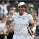 Andy Murray celebrates his win over Fabio Fognini. Photo: Reuters