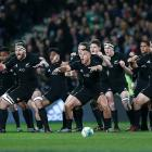 The All Blacks do the haka in Christchurch before playing South Africa last year. Photo: Getty...