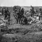 Back from the trenches: a rest and clean-up on the way from the front line. — Otago Witness, 18.7...