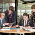 Students focusing on their studies.