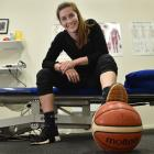 Otago Gold Rush captain Nat Smith shows some nifty footwork at Roslyn Physio yesterday. Photo:...