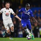 N'Golo Kante controls the ball for Chelsea against Watford last season. Photo: Getty Images