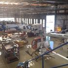 The flooded Flightline Aviation hangar at Dunedin Airport on Saturday. PHOTO: SUPPLIED