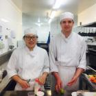 Otago Polytechnic's Central Otago campus' Toque D'or culinary team members Freda Zhang and Sam...