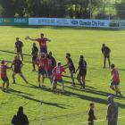 Kurow claims possession in a lineout during the Citizens Shield semifinal against Old Boys at...