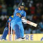 Shikhar Dhawan led India to victory over Sri Lanka. Photo Reuters