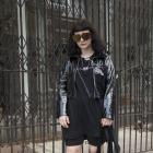 Julia wears Jimmy D Dress, Unif jacket, Karen Walker Eyewear, Underground Sundae jewellery, Dolls...