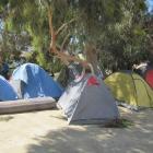 Home sweet home for seasonal workers at the Bendigo recreation site beside  Lake Dunstan in...