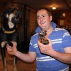 Ida Valley farmer Logan Sinclair and his enthusiastic dog Cruise take home the Bruce Duncan...