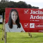 An election billboard for Jacinda Ardern in Auckland. Photo Getty