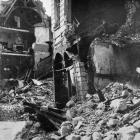 Destruction by German artillery fire in Arras, Northern France. — Otago Witness, 15.8.1917.