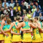 The Australian netball team after its win over South Africa. Photo: Getty Images