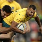 Kurtley Beale in action for the Wallabies against the All Blacks on Saturday. Photo Getty