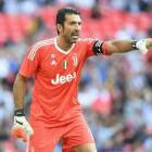 Gianluigi Buffon in action during a preseason match for Juventus. Photo: Getty Images