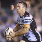 James Maloney in action for the Sharks. Photo: Getty Images